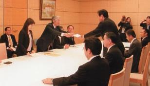 3党予算協議で社民党が求める