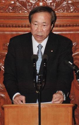 重野幹事長が菅首相演説に代表質問