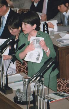 東日本大震災の集中審議で福島党首