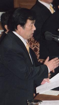 衆院復興特委で吉泉秀男議員